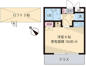 新高円寺駅 徒歩3分1階Fの間取り画像