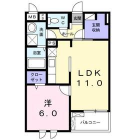 フィオーレ4階Fの間取り画像