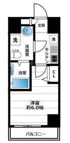グランヴァン横濱南5階Fの間取り画像