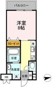 フォレスト浜田山1階Fの間取り画像