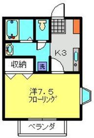 北山田駅 徒歩18分2階Fの間取り画像