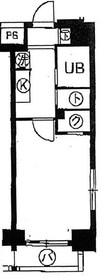 スカイコート月島2階Fの間取り画像