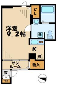 MapleHouse(メイプルハウス)1階Fの間取り画像