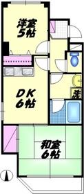 コンフォール新蒲田3階Fの間取り画像