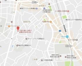 モンターニュ横浜白楽案内図