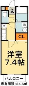 ソレイユ松江2階Fの間取り画像