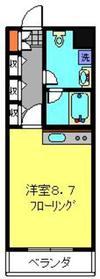ヴィラ・エクセレ日吉2階Fの間取り画像