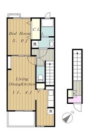 ル・シエル2階Fの間取り画像