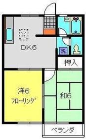 上大岡駅 徒歩12分1階Fの間取り画像