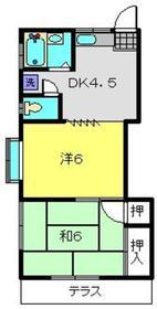 平野ハイムⅠ1階Fの間取り画像