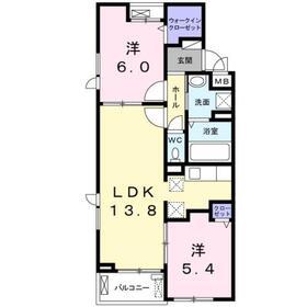 クラール KⅡ3階Fの間取り画像