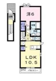 カーサフェリーチェ2階Fの間取り画像