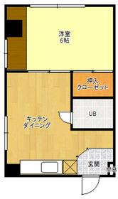 菊地マンション4階Fの間取り画像