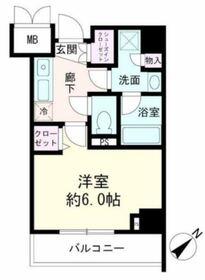 ルクシェール横濱生麦2階Fの間取り画像