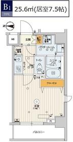 スカイコートパレス錦糸町Ⅱ6階Fの間取り画像