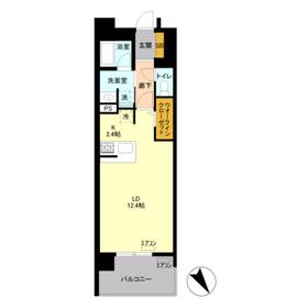 ロイヤルパークスリバーサイド3階Fの間取り画像