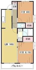 ラーク上北台1階Fの間取り画像