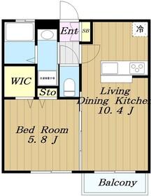 サウスメゾン1階Fの間取り画像