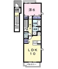 マロングラッセ Marron2階Fの間取り画像