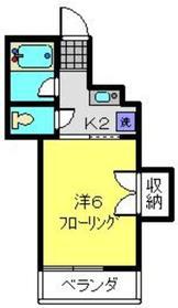 シャン星川5階Fの間取り画像