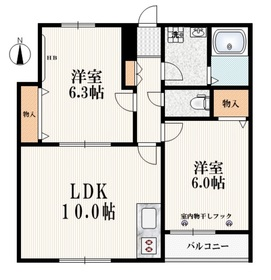 新所沢駅 徒歩10分3階Fの間取り画像
