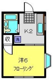 ジュネス井土ヶ谷2階Fの間取り画像