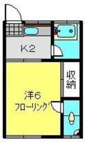 和田町駅 徒歩15分1階Fの間取り画像