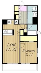 グランノエル町田エスプレイス4階Fの間取り画像