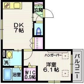 南麻布KⅢ3階Fの間取り画像