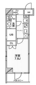 エルスタンザ文京千駄木11階Fの間取り画像