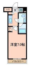 メジャーランド横濱鶴見6階Fの間取り画像