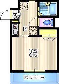 黒川メゾン1階Fの間取り画像