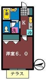 コリンヌ谷津2階Fの間取り画像