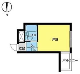 スカイコート新宿1階Fの間取り画像