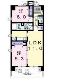 クレールコート6階Fの間取り画像