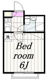 アップルハウス南林間Ⅱ1階Fの間取り画像