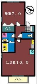 グランシャリオ(鷺沼台)1階Fの間取り画像