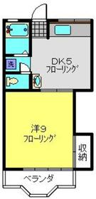 高津駅 徒歩24分2階Fの間取り画像
