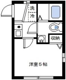 日吉本町駅 徒歩5分1階Fの間取り画像