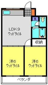 日吉パフィオマンション3階Fの間取り画像