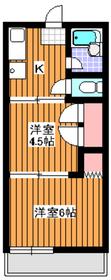 石塚ハウス2階Fの間取り画像
