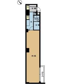 ミディアススカイコート赤坂地下1階Fの間取り画像