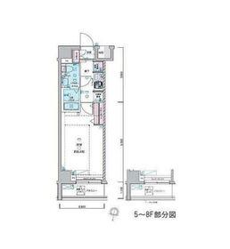 ジェノヴィア荻窪Ⅱスカイガーデン2階Fの間取り画像