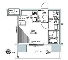 パークキューブ板橋本町12階Fの間取り画像