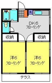 秋葉ハイツ1階Fの間取り画像