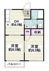 弘明寺駅 徒歩11分2階Fの間取り画像
