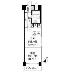 ミリオングランデ元赤坂ヒルズ2階Fの間取り画像
