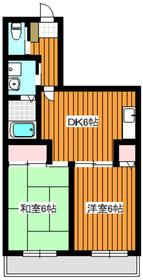 サンヒルズ徳丸1階Fの間取り画像