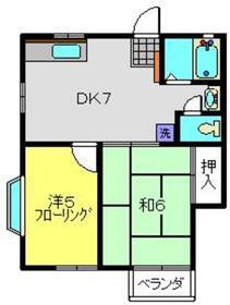 ビックオレンジ鶴ヶ峰1階Fの間取り画像