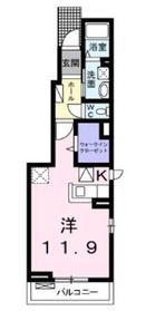 サンシャインヴィラ1階Fの間取り画像